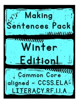 Making Sentences about Winter Pack - Literacy Centers