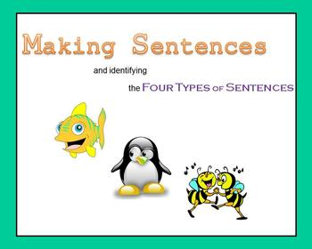 Making Sentences and identifying the Four Types of Sentences