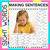 Sight Words Making Sentences with Fry and Dolch Words