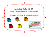 Making Sets of 10 Unifix Cubes (Common Core K.OA.4)
