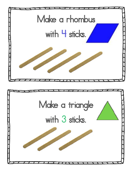 Making Shapes with Popsicle Sticks