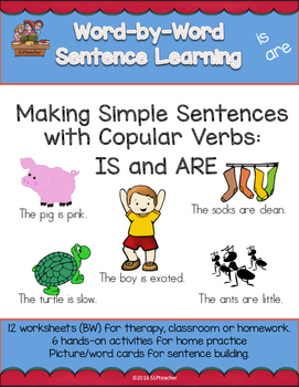 Making Simple Sentences with Copular Verbs:  IS and ARE