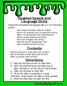 Making slime to target speech and language skills free by speech gems making slime to target speech and language skills free ccuart Gallery