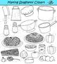 Making Spaghetti Clipart Kitchen Pasta Clip Art Graphics - Commercial