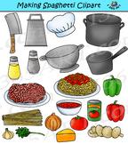 Making Spaghetti Clipart Kitchen Pasta Clip Art Graphics -