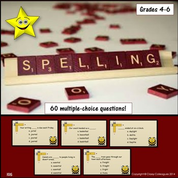 Spelling Review and Test Prep, with Challenge Game