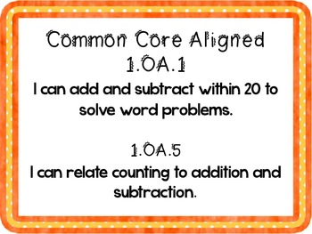 Making Subtraction Equations to 15 Common Core Aligned Math Center