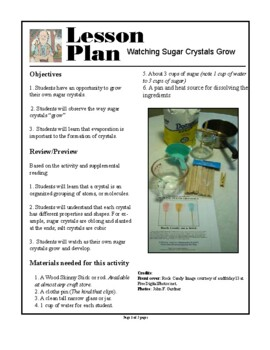 Making and Studying Sugar Crystals