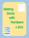 Making Sums of Numbers 1 to 10 with Connecting Cubes
