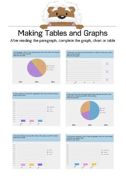 Making Tables and Graphs 1 - Complete the Graph - Gr. 5/6