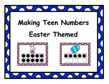 Making Teen Numbers Easter Themed