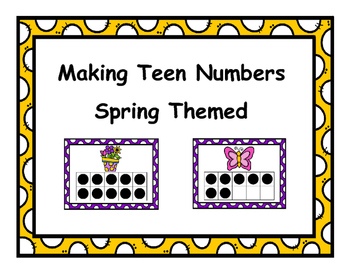Making Teen Numbers Spring Themed