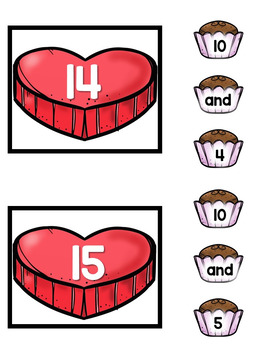 Making Teen Numbers- Valentine's Day Themed