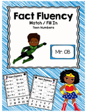Making Teen Numbers File Folder Match and Fill-In: Super Hero Themed!