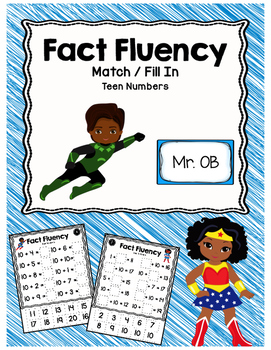 Making Teen Numbers File Folder Match and Fill-In: Super H