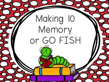 Making Ten 10 Memory or Go Fish
