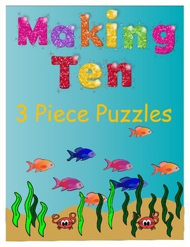 Making Ten - 3 Piece Puzzles (Ocean Themed)