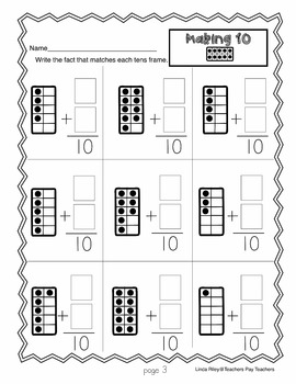 Making Ten:  Addition Strategy Worksheets