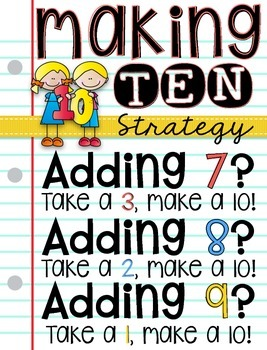 Making Ten: Addition Strategy for adding 7, 8, and 9