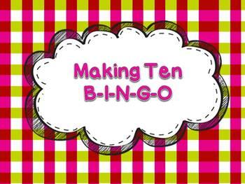 Making Ten BINGO Addition Concepts Math Center or Station
