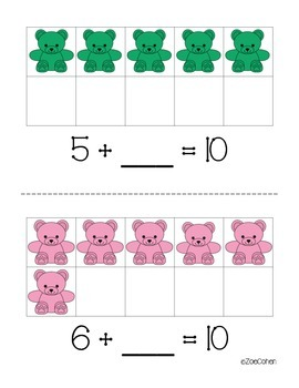 Making Ten: Bear Counters Addition Center