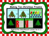 Making Ten Christmas Freebie Interactive Smartboard Lesson for K-1