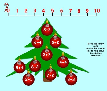 Making Ten Christmas Freebie Interactive Smartboard Lesson for K-1