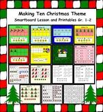 Making Ten Christmas Theme Smartboard Lesson and Printables