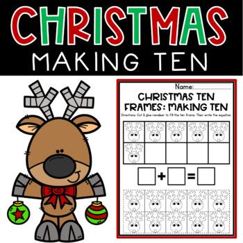 Making Ten Christmas Worksheets Cut & Paste