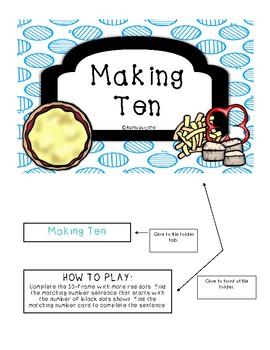 Making Ten File Folder Game