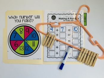 Making Ten Game and Worksheets