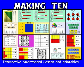 Making Ten Interactive Smartboard Lessons and Printables