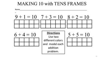 Making Ten Math Song