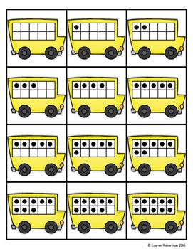 Making Ten Memory Math Center- Back to School Edition
