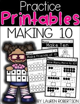 Making Ten Practice Printables