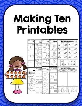Making 10 Printables- K.OA.4