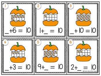 Making Ten Pumpkin Scoot!