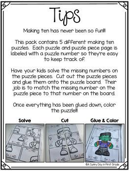 Making Ten Halloween Puzzles!
