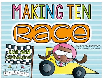 Making Ten Race {just add clothespins!}