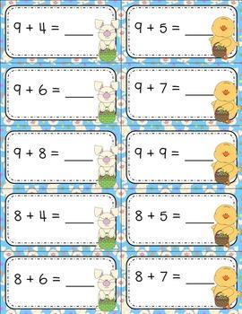 Making Ten Strategy Math Center - Easter Theme