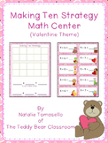Making Ten Strategy Math Center - Valentine Theme