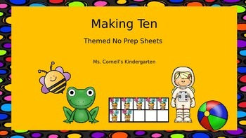 Making Ten Themed No Prep Sheets