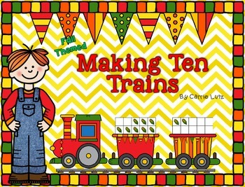 Making Ten Trains ~ Math Work Stations and Activity Pages