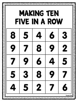 Making Ten Worksheet and Game