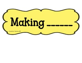 Making Ten (and less) Anchor Chart