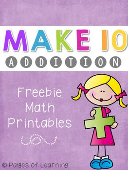 Making Ten to Add Freebie