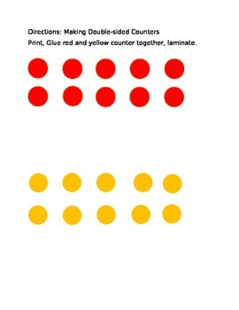 Making Ten using Double-Sided Counters