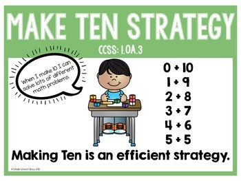 Making Ten with 8 and 9 as an Addend Math Centers- EngageNY Inspired