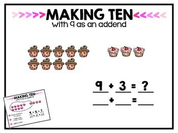 Making Ten with 9 as an Addend Projectable Activities
