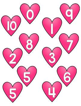 Number Bond Game - Hearts